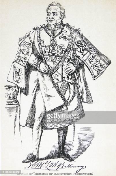 Edmund Lodge English biographer antiquary and herald Engraving 1830