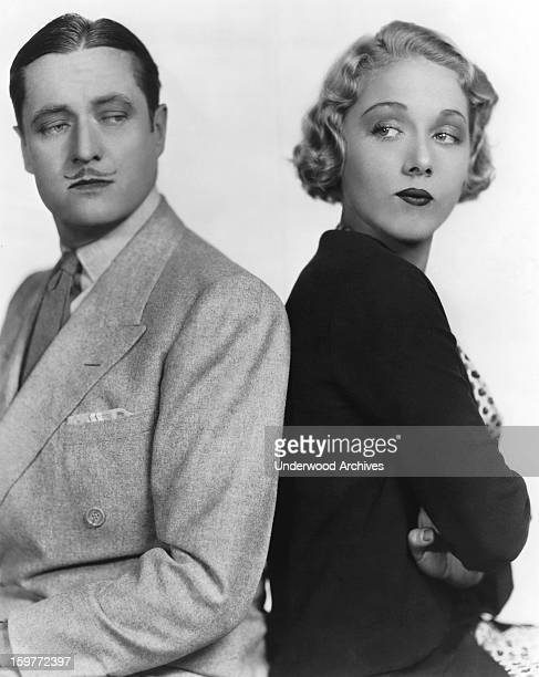 Edmund Lowe and Leila Hyams in the comedy film 'Part Time Wife' Hollywood California 1930