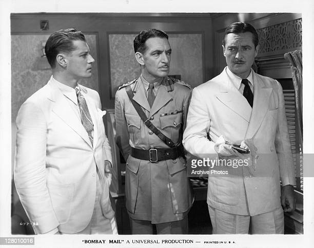 Edmund Lowe in a scene from the film 'Bombay Mail' 1934