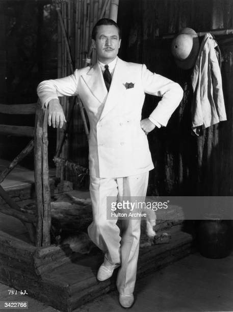 Edmund Lowe strikes an authoritative pose in a scene from the Universal film 'The Great Impersonation' an espionage story set during World War I and...
