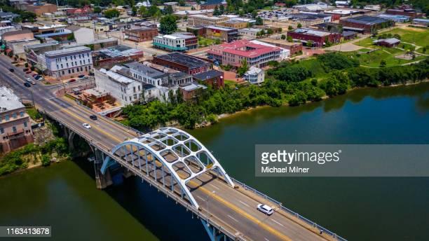 edmund pettus bridge - selma alabama stock pictures, royalty-free photos & images