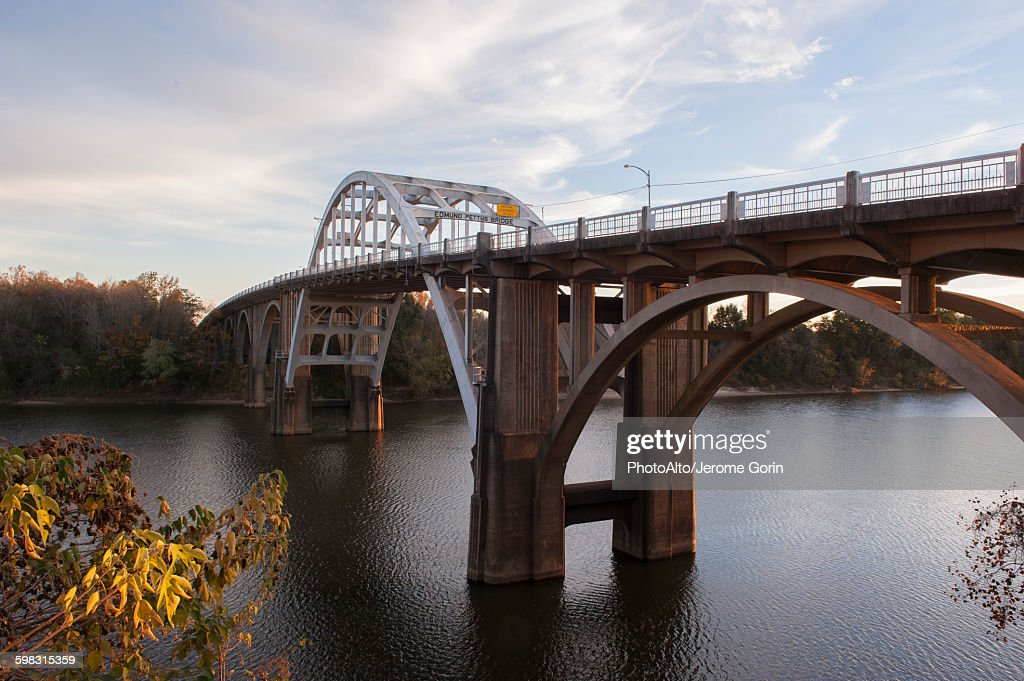 Edmund Pettus Bridge, Selma, Alabama, USA : Stock Photo