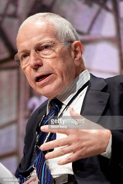 Edmund Phelps, 2006 Nobel Prize in Economics winner and director of the Center of Capitalism and Society at Columbia University, speaks during The...
