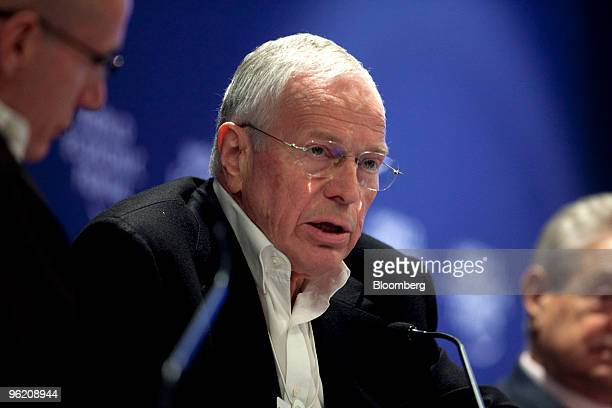 Edmund Phelps, director of the Center of Capitalism and Society at Columbia University, speaks at a panel session on day one of the 2010 World...
