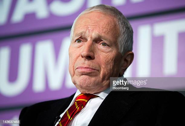 Edmund Phelps, director of the Center on Capitalism and Society at Columbia University, speaks at the Bloomberg Washington Summit in Washington,...