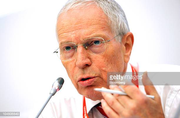 Edmund Phelps, Nobel Prize-winning economist and professor of economics at Columbia University, speaks at the Global Economic Symposium in Istanbul,...