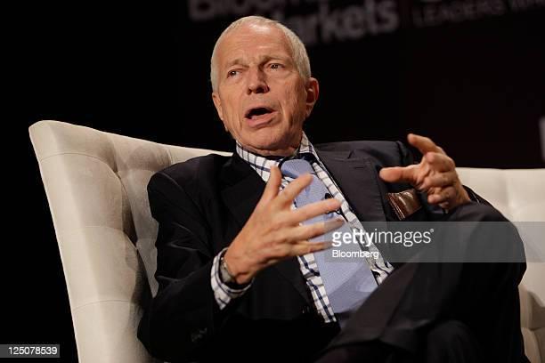 Edmund Phelps, Nobel Prize-winning economist and professor of economics at Columbia University, speaks during the Bloomberg via Getty Images Markets...
