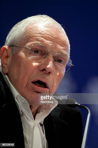 Edmund Phelps, professor and director of the Center of Capitalism and Society at Columbia University, speaks at a panel session on day one of the...