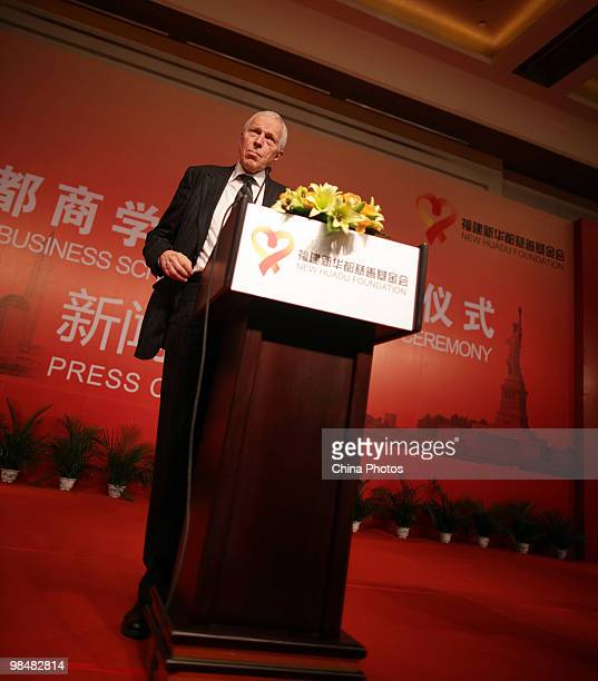 Edmund S. Phelps, 2006 Nobel Prize Laureate in Economic Sciences, delivers a speech during an inauguration ceremony on April 15, 2010 in Beijing,...