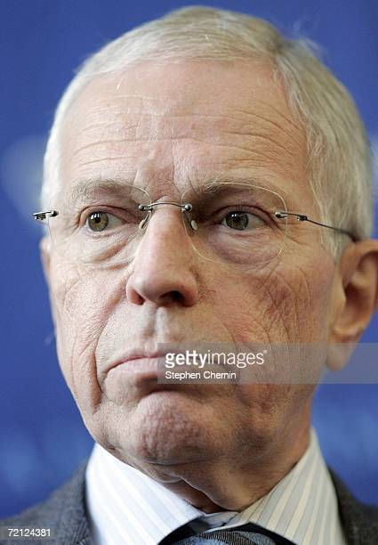 Edmund S. Phelps, Vickar Professor of Political Economy at Columbia University, speaks during a news conference October 9, 2006 at Columbia...