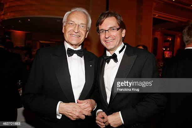 Edmund Stoiber and Claus Strunz attends the German Film Ball 2014 on January 18 2014 in Munich Germany