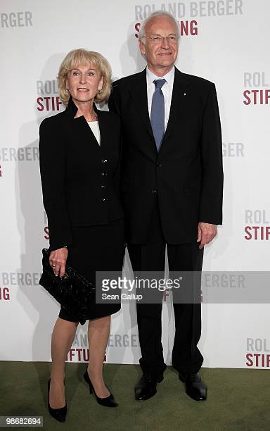 Edmund Stoiber and his wife Karin attend the Roland Berger Award for Human Dignity 2010 at the Konzerthaus am Gendarmenmarkt on April 26 2010 in...