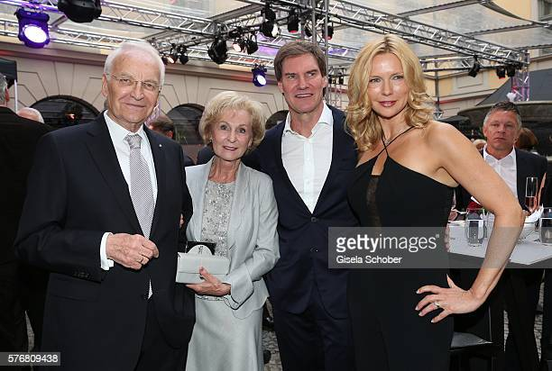 Edmund Stoiber and his wife Karin Stoiber and Veronica Ferres and her husband Carsten Maschmeyer during the Mercedes-Benz reception at 'Klassik am...