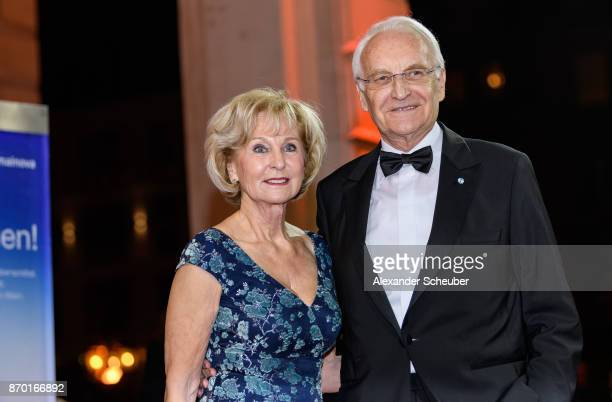 Edmund Stoiber and his wife Karin Stoiber are seen during the German Sports Media Ball at Alte Oper on November 4 2017 in Frankfurt am Main Germany