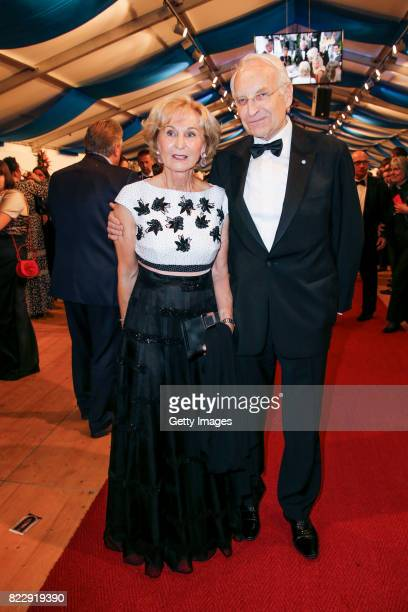 Edmund Stoiber and his wife Karin Stoiber during the Bayreuth Festival 2017 State Reception at Neues Schloss on July 25 2017 in Bayreuth Germany