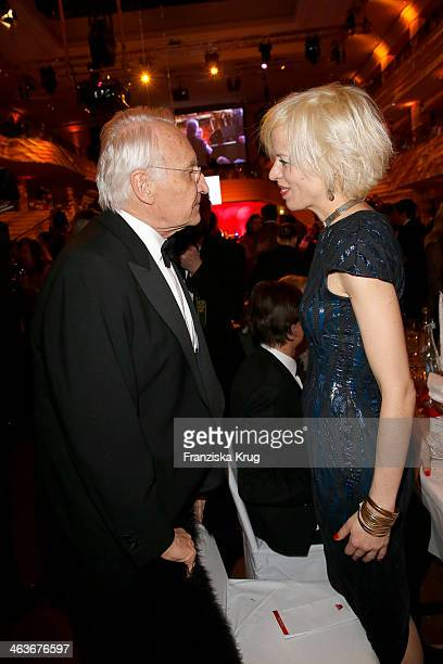 Edmund Stoiber and Katja Eichinger attend the German Film Ball 2014 on January 18 2014 in Munich Germany