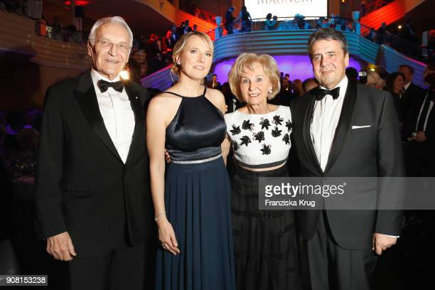 Edmund Stoiber Anke Stadler Karin Stoiber and Sigmar Gabriel during the German Film Ball 2018 at Hotel Bayerischer Hof on January 20 2018 in Munich...