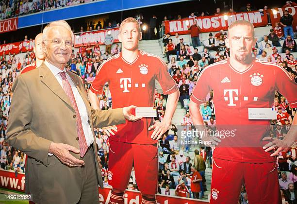Edmund Stoiber attends the FC Bayern Erlebniswelt Opening Ceremony at Allianz Arena on August 1 2012 in Munich Germany