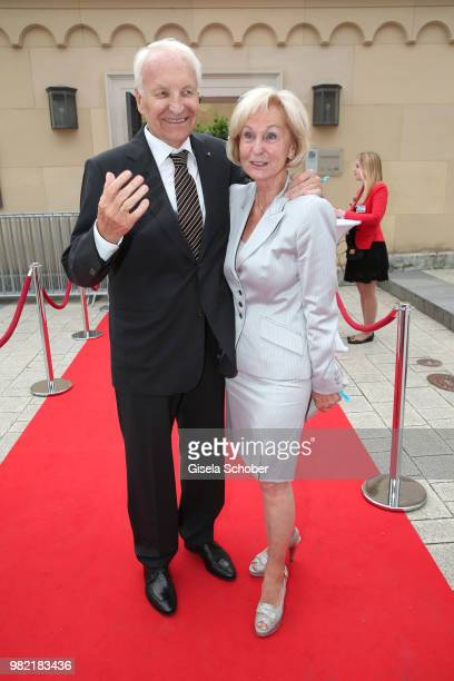 Edmund Stoiber former Bavarian Prime Minister and his wife Karin Stoiber during the reception of the '17 UniCredit FestspielNacht' at...