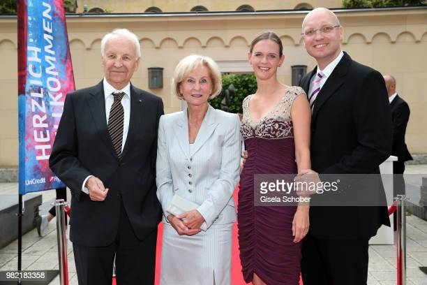 Edmund Stoiber former Bavarian Prime Minister and his wife Karin Stoiber son Dominic Stoiber and his wife Melanie Stoiber during the reception of the...