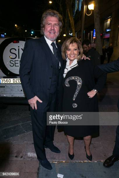 Edmundo Arrocet and Maria Teresa Campos arrive at the Alejandra Rubio 18th birthday party at Gabana Club on April 5 2018 in Madrid Spain