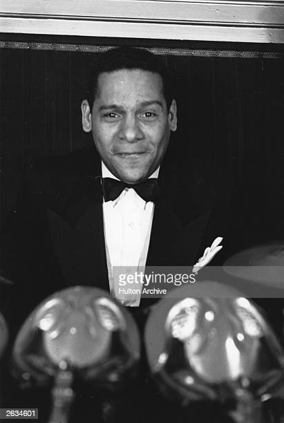 Edmundo Ros, the drummer and founder of a dance band, which was very popular in the 1930's and 40s, at the Old Florida Nightclub in London. Edmundo...