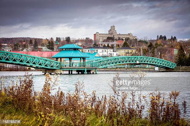 edmundston bridge - moncton stock photos and pictures