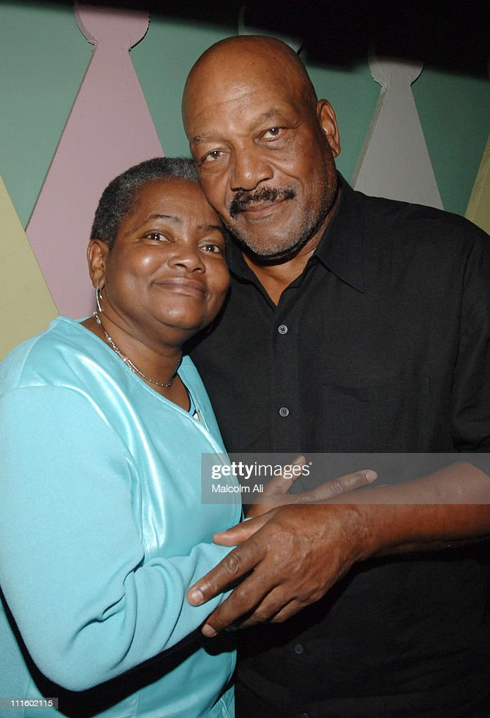 Edna Bellamy and Jim Brown during Bill Bellamy Surprise 40th Birthday Party at Monroe's in West Hollywood, California, United States.