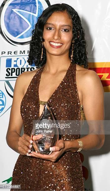 Edna Diaz during 2005 Premios Fox Sports Press Room at Jackie Gleason Theater in Miami Beach Florida United States