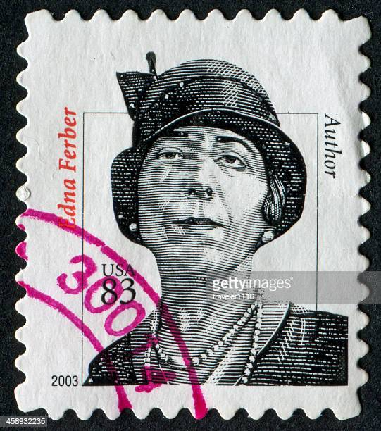 edna ferber stamp - famous authors stock pictures, royalty-free photos & images