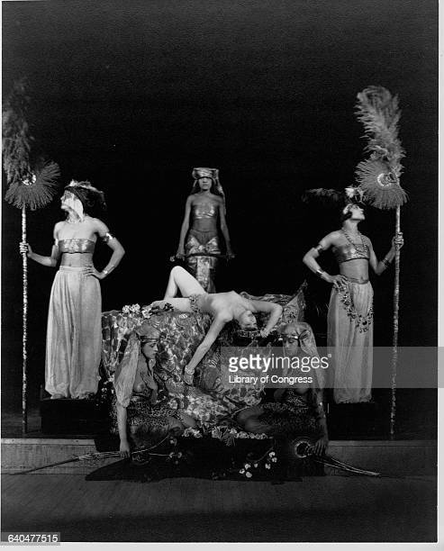 Edna French and five other stage actresses perform in Midnight Frolic during the Ziegfeld Follies production of 1918