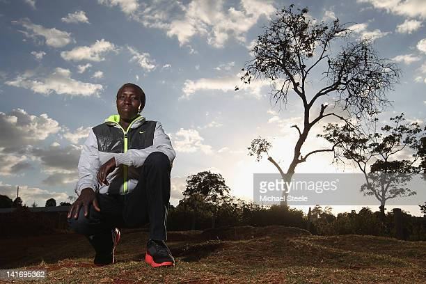 Edna Kiplagat of Kenya and World Marathon Champion poses for a portrait on February 5, 2012 in Iten, Kenya.