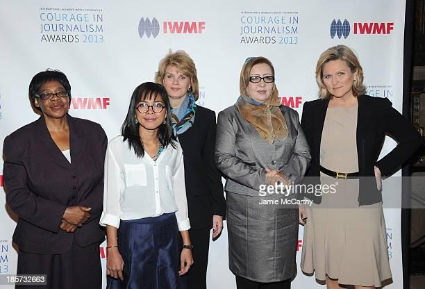 Edna Machirori Bopha Phorn Anne Finucane Najiba Ayubi and Cynthia McFadden attend the International Women's Media Foundation's 2013 Courage In...