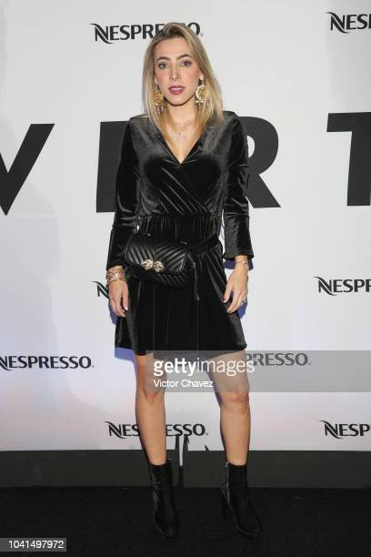 Edna Monroy attends the Nespresso Vertuo launch on September 26 2018 at Piacere in Mexico City Mexico