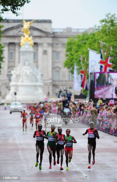 Edna Ngeringwony Kiplagat of Kenya, Tiki Gelana of Ethiopia, Mary Jepkosgei Keitany of Kenya, Mare Dibaba of Ethiopia and Priscah Jeptoo of Kenya...