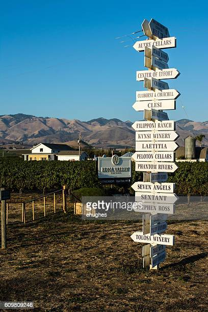 Edna Valley Winery Signpost