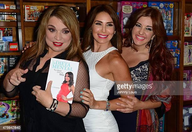 Ednita Nazario Laura Posada and Samar Yorde greets fans and signs copies of Laura Posada book 'La dieta mental' at Books and BooksGables on June 4...