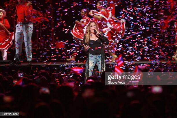 Ednita Nazario performs as part of her tour 'Una Vida' at Coliseo Jose M Agrelot on May 13 2017 in San Juan Puerto Rico