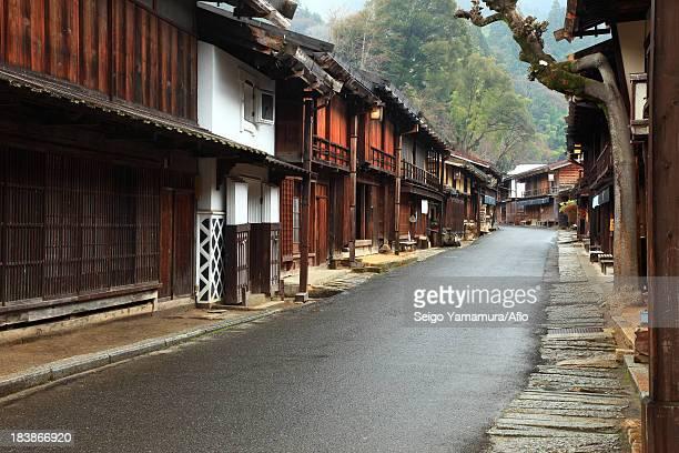 edo period street in nagiso town, nagano prefecture - edo period ストックフォトと画像