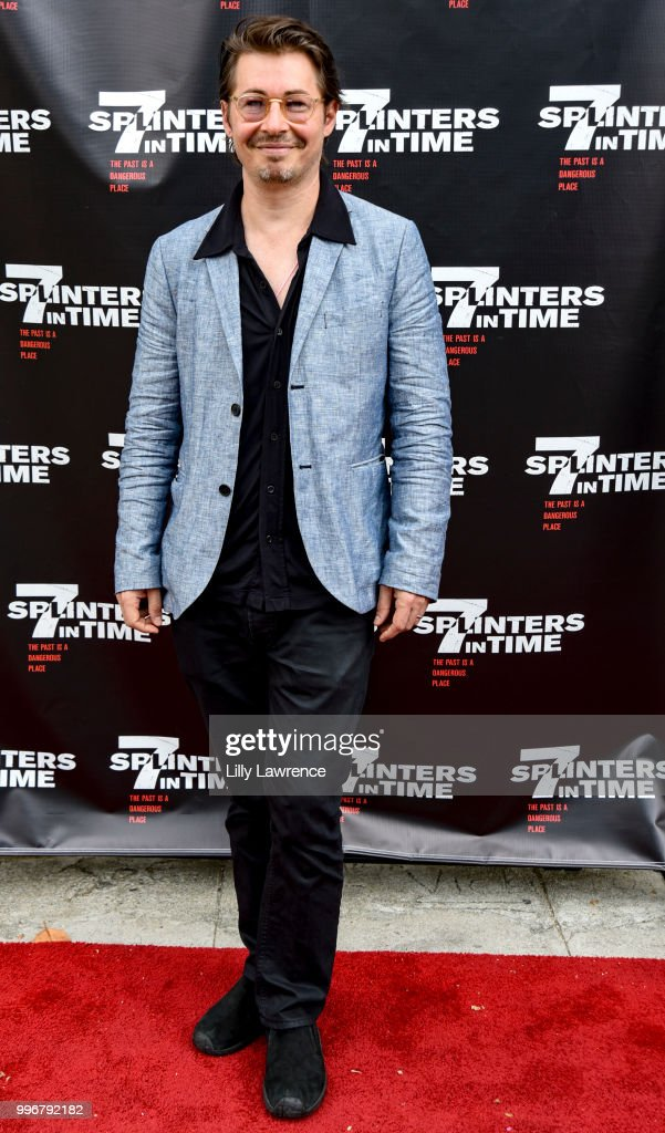 Edoardo Ballerini arrives at the '7 Splinters In Time' Premiere at Laemmle Music Hall on July 11, 2018 in Beverly Hills, California.