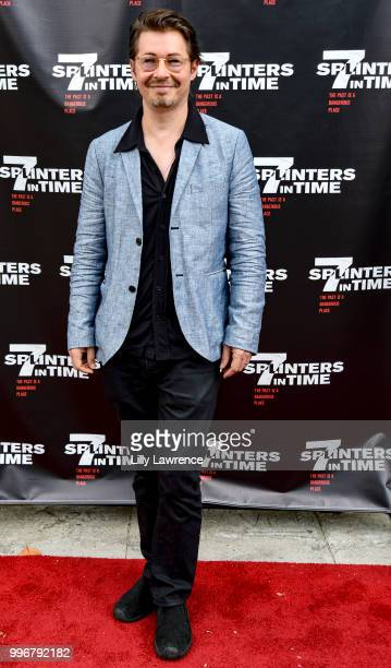 Edoardo Ballerini arrives at the '7 Splinters In Time' Premiere at Laemmle Music Hall on July 11 2018 in Beverly Hills California