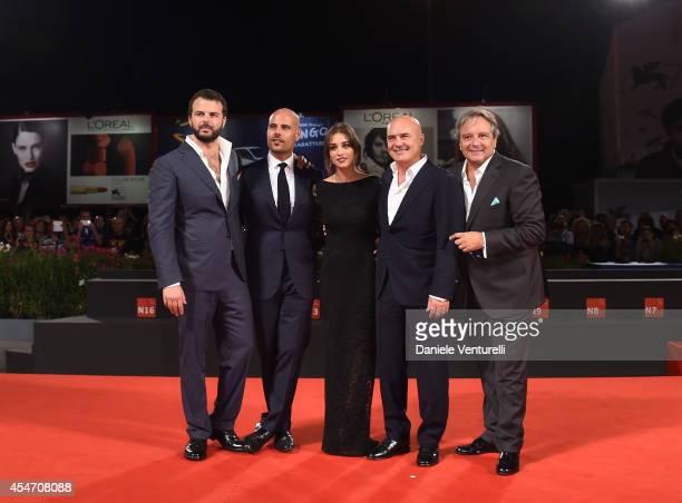 Edoardo De Angelis Marco D'Amore Simona Tabasco Luca Zingaretti and Giampaolo Fabrizio attend 'Perez' Premiere during the 71st Venice Film Festival...