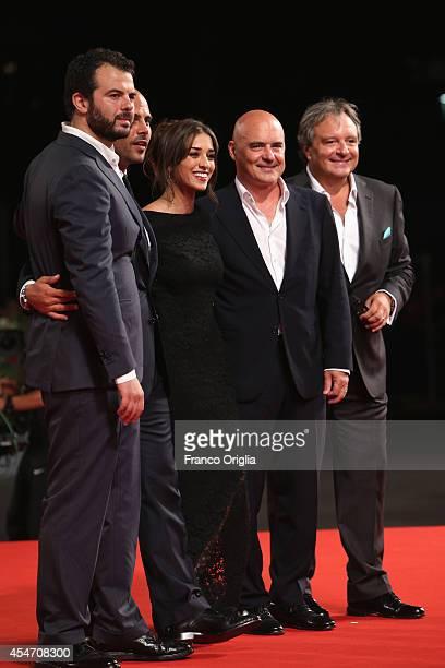 Edoardo De Angelis Marco D'Amore Simona Tabasco Luca Zingaretti and Giampaolo Fabrizio attend 'Perez' Premiere during the 71st Venice Film Festiva on...