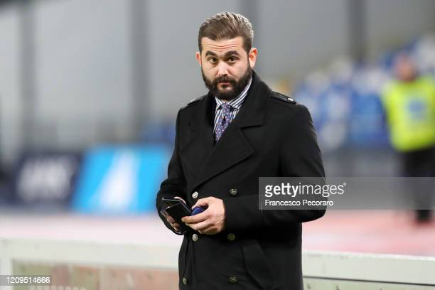 Edoardo De Laurentiis SSC Napoli vice president before the Serie A match between SSC Napoli and Torino FC at Stadio San Paolo on February 29 2020 in...