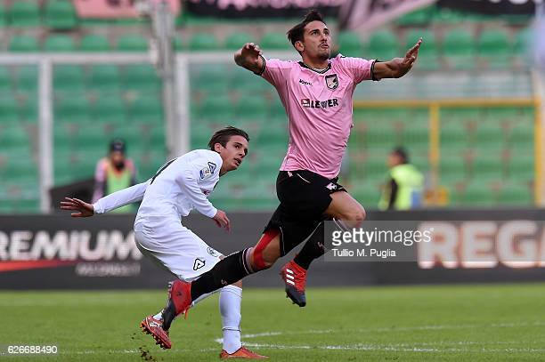 Edoardo Goldaniga of Palermo in action during the TIM Cup match between US Citta di Palermo and AC Spezia at Stadio Renzo Barbera on November 30 2016...
