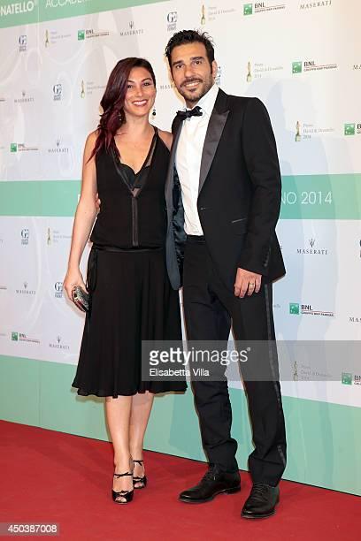 Edoardo Leo and Laura Marafioti attend the David Di Donatello Awards Ceremony at the Dear Studios on June 10, 2014 in Rome, Italy.