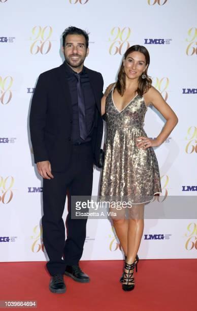 """Edoardo Leo and Laura Marafioti attends """"Fulvio Lucisano - Sotto Il Segno Del Cinema"""" event at Maxxi Museum on September 24, 2018 in Rome, Italy."""