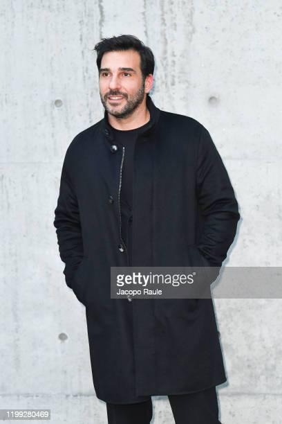 Edoardo leo is seen at the Giorgio Armani fashion show on January 13, 2020 in Milan, Italy.