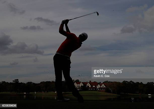 Edoardo Lipparelli of the Illinois Fightin Illini tees off the 15th hole during day 2 of the 2016 East Lake Cup at East Lake Golf Club on November 2...