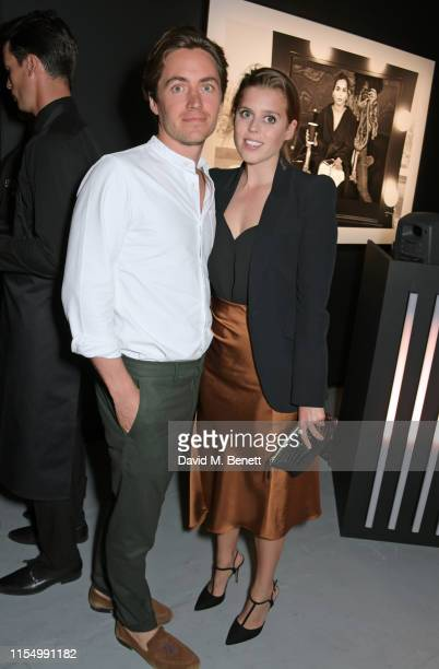 Edoardo Mapelli Mozzi and Princess Beatrice of York attend the Lenny Kravitz Dom Perignon 'Assemblage' exhibition the launch Of Lenny Kravitz' UK...